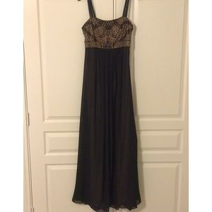 Beaded long Black Formal/Cocktail Dress